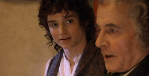 Frodo and Bilbo of Hobbit fame, discussing the Universe!