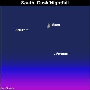 8.29.17 Moon Saturn Antares Photo Op Rings of Saturn!